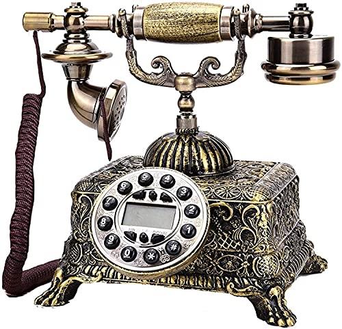 Teléfono Antiguo Teléfono Home Office Office Decoration Button Dial Retro Landline con pantalla retroiluminada Decoración clásica para el Home Office Family Hotel, Galería de arte Teléfono decorativo