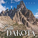 """South Dakota 2022 Calendar: 12-month Calendar - Square Small Gorgeous Calendar 8.5x8.5"""" for planners with large grid for note"""