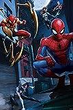 Prime 3D Puzzle lenticular Marvel Spiderman Nuevo Universo 200 Piezas, Multicolor