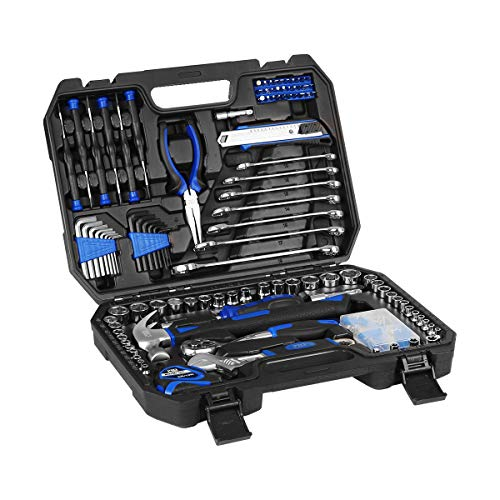 148PCs Home Repair Tool Set, Tool Sets for Homeowners, General Household Hand Tool Set with Storage Toolbox