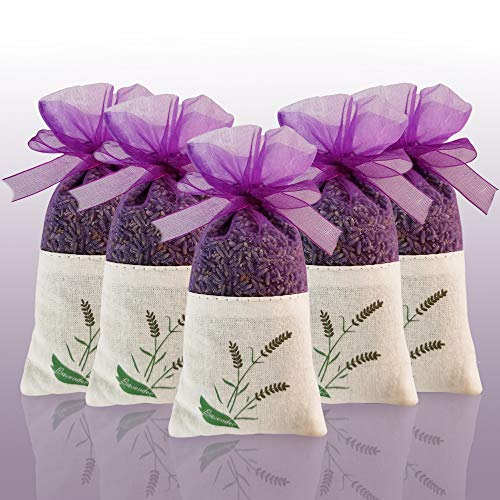 insoftb Lavender Sachets Craft Bag for Drawers and Closets Fresh Scents Organic Ultra Blue Dried Lavender Buds for Home Fragrance for Sleep Wedding Toss