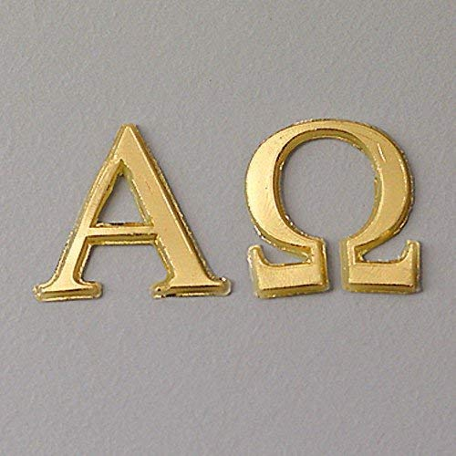 "efco \""Alpha + Omega Wachs Dekoration in 2Teile, Gold Brilliant, 22mm"