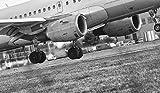 CZWSLS Puzzles 1000 Pièces pour Adultes -Avion D'Atterrissage