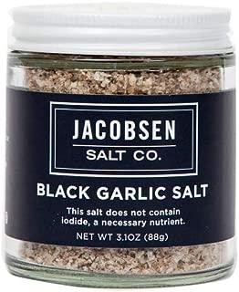 Jacobsen Salt Co. Specialty Sea Salt for Fancy Gourmet Cooking, Infused Sea Salt, Black Garlic Flavored, 3.1 Ounce