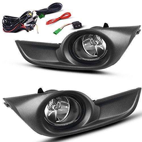 AUTOSAVER88 Fog Lights Compatible with 2013 2014 2015 Nissan Altima Sedan (Clear Glass Lens w/Bulbs)
