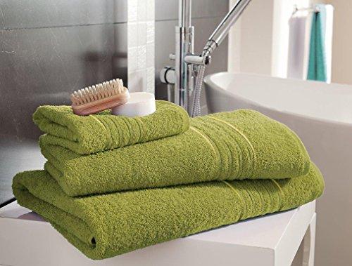 Select-ed ® Plaisirs 4 x Hampton de coton égyptien Serviettes visage Serviette/serviette de toilette Serviette de bain/bain/feuilles/Jumbo de bain Feuilles, Green, 4 x Jumbo Bath Sheet