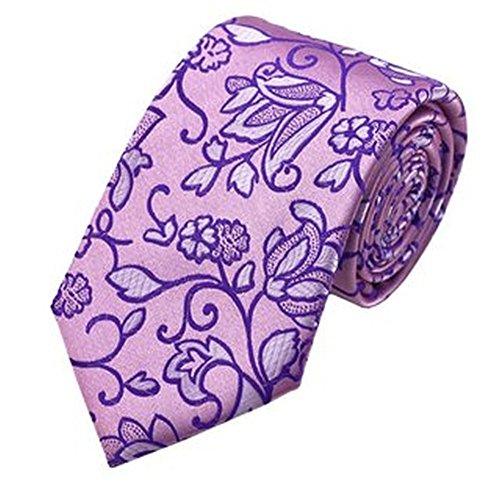 Jason & vogue designer cravate 100% soie rose/violet/motif floral
