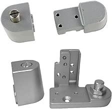 Kawneer Style TOP & Bottom Pivot Hinge Set for Commercial Adams Rite Type Storefront Door, Choose Handing & Finish (Left Hand in Aluminum)