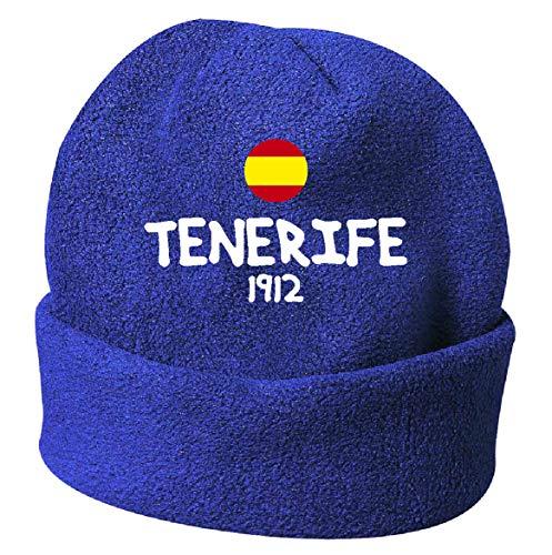 Tipolitografía Ghisleri Sombrero de invierno Tenerife España Blue Bordado de Polar Talla Única 157