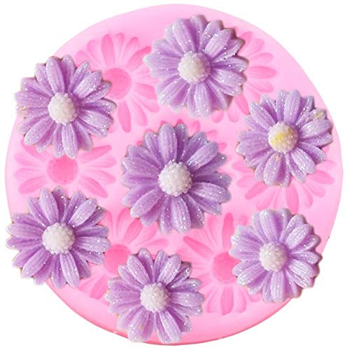 Buy Discount Jelly beans6 Daisy Flower Silicone Mold Candy Polymer Clay Chocolate Molds DIY Wedding ...