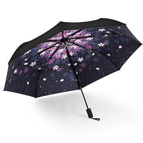KAIXIA umbrella folding UV umbrella with 8 ribs windproof automatic opening...