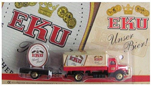 EKU Brauerei Nr.31 - Unser Bier - Krupp Mustang - Hängerzug Oldie mit Plakatwand