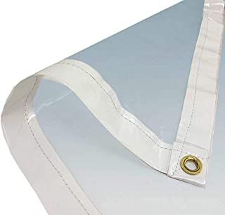 Long Lasting Heavy Duty Clear PVC Tarp, Great Protection from The Elements (6' X 20' Clear PVC)