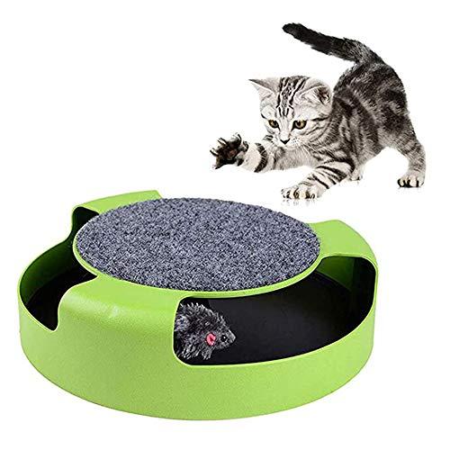 XWSD Cat Interactive Toys mit Einer laufenden Maus, der Plattenspieler hat eine Plüschtiermaus, dreht Sich basierend auf Ihrer Cat Touch, Katze Wird interessiert Sein