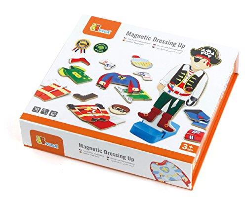 Viga Toys - 50021 - Jouet De Premier Age - Jeu Magnétique - Vêtements De Garçon