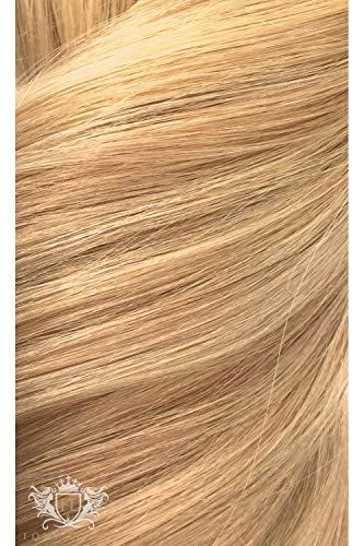 Foxy Locks Extensions de cheveux Remy sans couture à clipser 100 % humains – Différentes longueurs et couleurs (55,9 cm, blond sablé (20/24/60))