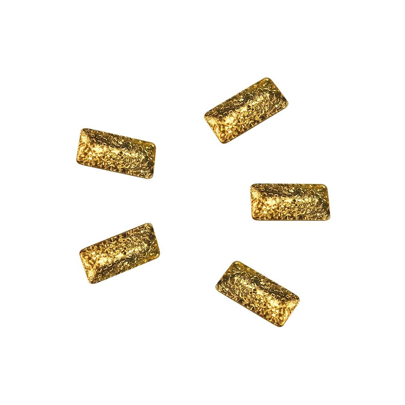 怖い承知しました節約Bonnail ラフスタッズゴールド レクタングル 3×1.2mm 30P