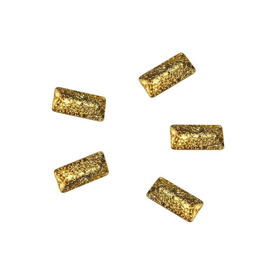 些細なブリーフケース亜熱帯Bonnail ラフスタッズゴールド レクタングル 3×1.2mm 30P