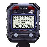 SCHÜTT cronometro PC-90 (60 memorie di memoria | ora e data | doppio timer) - cronometro professionale digitale con meccanismo a punto di pressione | antispruzzo | trainer