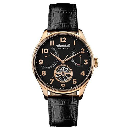 Ingersoll Herren Datum klassisch Automatik Uhr mit Leder Armband I04602