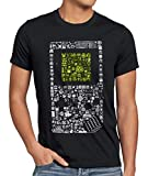 style3 8-bit Game Camiseta para Hombre T-Shirt Pixel Boy, Talla:S, Color:Negro