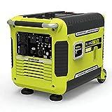 qiwangsheng Generador Electrico Portatil Generador para Camping Generador De Gasolina Ultra Silencioso Exterior Pequeño Inversor Digital-Inversor Digital Silencioso De 3Kw (Dibujado A Mano)
