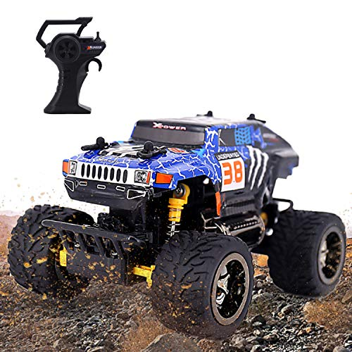 Remote Control Car, RC Car 2.4GHZ High Speed Racing Car Toys 30 Km/h Fsat All Terrain Off Road Radio Control Trucks Electric Toy Gifts for Boys Kids and Adults