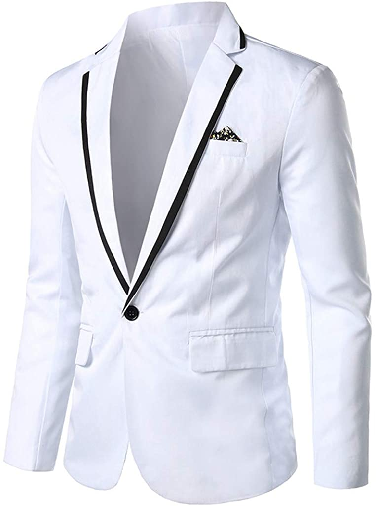 Mens Stylish Casual Solid Blazer Business Wedding Party Outwear Coat Suit Jacket