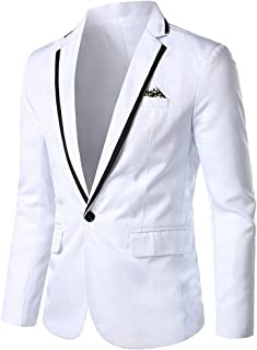 Sunward Coat for Men,Men's Casual Solid Blazer Business Party Outwear Coat Suit Tops