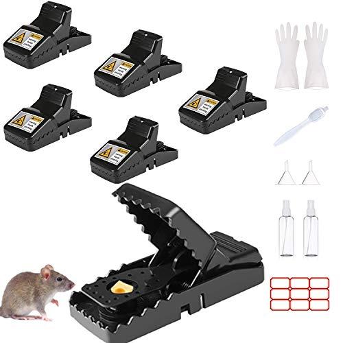 Euiooctory Trampas para Ratones, Trampas para Ratas Profesionales, Trampas Ratones higiénica y eficiente y se Puede reutilizar en Interiores y Exteriores.