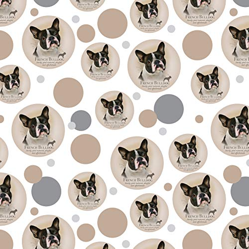 GRAPHICS & MORE French Bulldog Dog Breed Premium Gift Wrap Wrapping Paper Roll