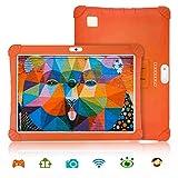 Tablette Tactile 10 Pouces 3Go RAM 32Go/128Go ROM Android 9.0 Pie Certifié par Google GMS Tablette Enfant Batterie 8500mAh 4G Call Quad Core Tablette Dual SIM Caméra Tablet PC Netflix WiFi OTG(Orange)