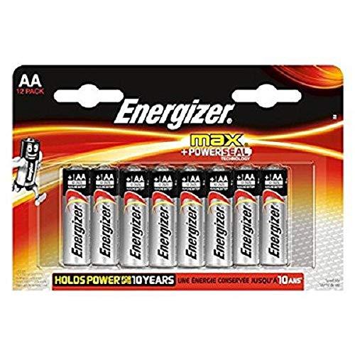 Energizer E300112600 Batterie Max Alkaline AA (Mignon/LR6 12er-Packung)