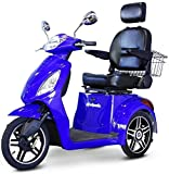 E-Wheels - EW-36 Full-Sized Scooter - 3-Wheel - Blue - with Phillips in Home Service Power Package (3 Years) - UP to A $500 Value