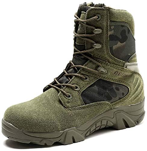 LiliChan Männer Taktische Stiefel Delta Side Einsatzstiefel Wasserdicht Boots Military Schuhe (43 EU, Grün)