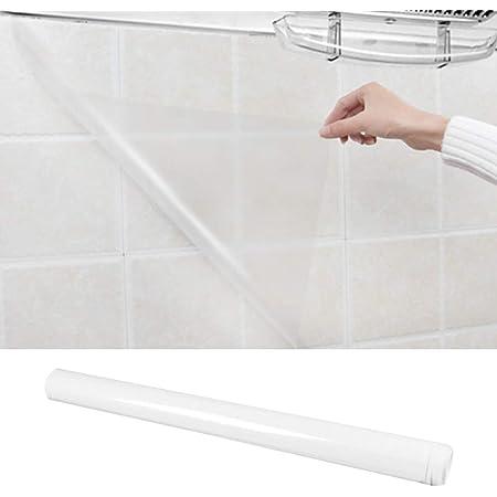 Atpwonzキッチン壁用汚れ防止シート40CM*500CM 透明シート キッチン用 家具 台所 防水 防油 防汚 耐熱 傷防止 貼りやすい