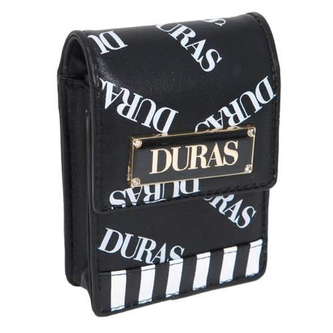 除去マルコポーロ倍率DURAS デュラス[ミニポーチ]合皮 リップポーチ/ロゴ総柄 【クロ 】