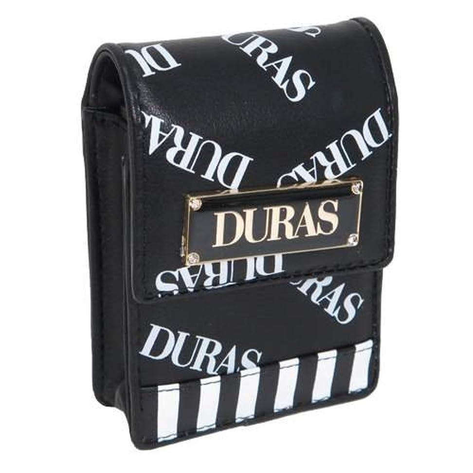 極地失速追放DURAS デュラス[ミニポーチ]合皮 リップポーチ/ロゴ総柄 【クロ 】