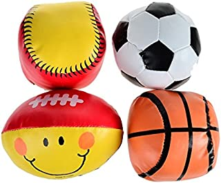 arpa Soft Safe Football Rugby Basketball Softball Baby Toy Balls - 4pcs Pack