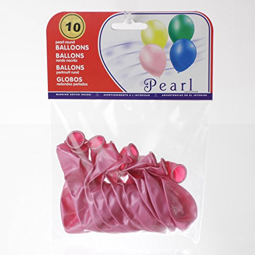 Feerie Christmas 10 Ballons gonflables Nacrés - Rose