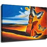 Cuadro con diseño de mariposas de Salvador Dali con imagen de reproducción en...