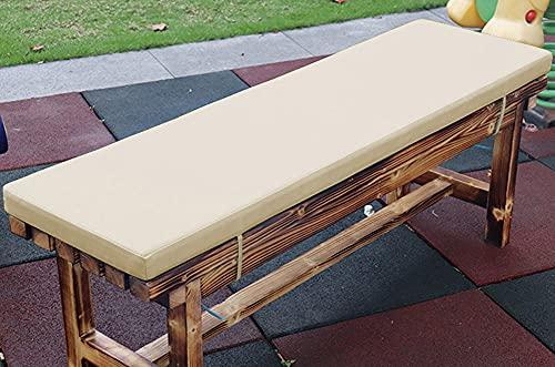 jHuanic Coussin imperméable pour banc de jardin 2/3/4 places, 100/120/150 cm, coussin rectangulaire pour balancelle de terrasse (110 x 50 x 5 cm, beige)