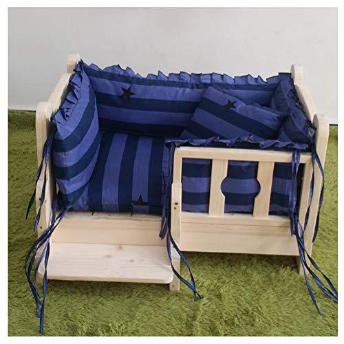 Canile van hout voor de hond of vier lantaarns met trappen, eenvoudig te installeren, voor alle Pet Nest Kenel YUXO, 68x48x40cm, Een