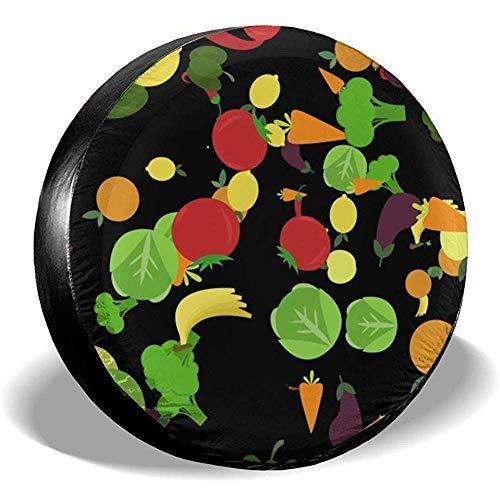 ulxjll Tire Diameter Gemüse Und Obst Reserveradabdeckung Zubehör Wasserdichter Druck Staubdichte Reifenabdeckung 70~75cm