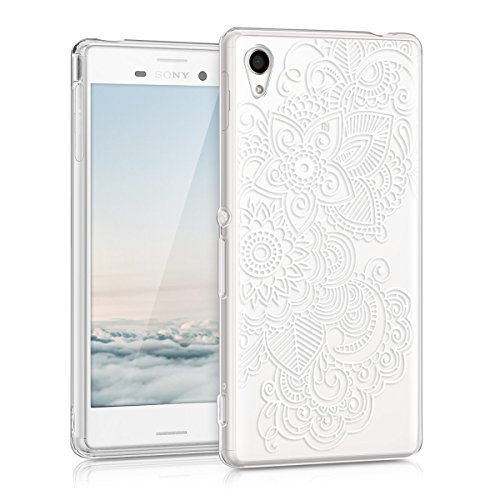 kwmobile Hülle kompatibel mit Sony Xperia M4 Aqua - Handyhülle - Handy Hülle Ethno Weiß Transparent