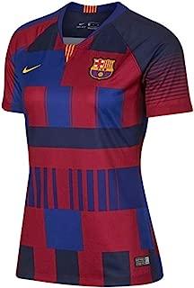 Nike 2018-2019 Barcelona Anniversary Ladies Football Soccer T-Shirt Jersey