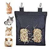 Borsa per Fieno Porta Fieno per Chinchilla e Conigli 23 x 28 x 2.6cm Adatta per Conigli, Porcellini d'India, Cincillà o Piccoli Animali