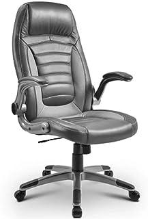 AOLI Alto a Oficina Escritorio de la computadora y silla gris Silla de oficina escritorio del ordenador portátil ergonómico ajustable giratorio de ejecutivo de tareas del ordenador Volver Silla alta,