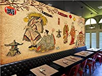 壁紙 侍の壁紙日本料理寿司レストラン居木屋工業用装飾壁画壁紙-3D_430x300cm
