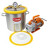 5 Gallon Vacuum Degassing Chamber Kit with 5 CFM Pump - Not for Wood Stabilizing